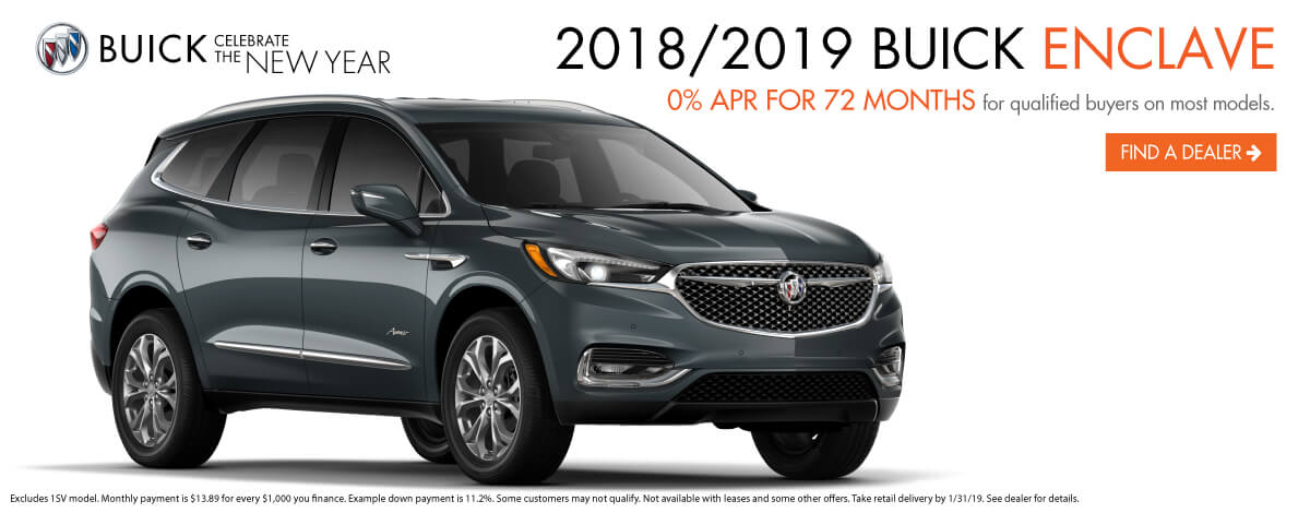 2019 and 2018 Buick Enclave