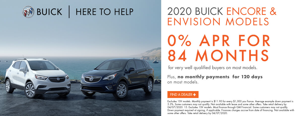 2020 Buick Encore and Envision Models.