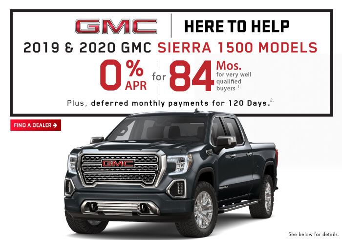 Sierra 2020 and 2019 1500 Models.