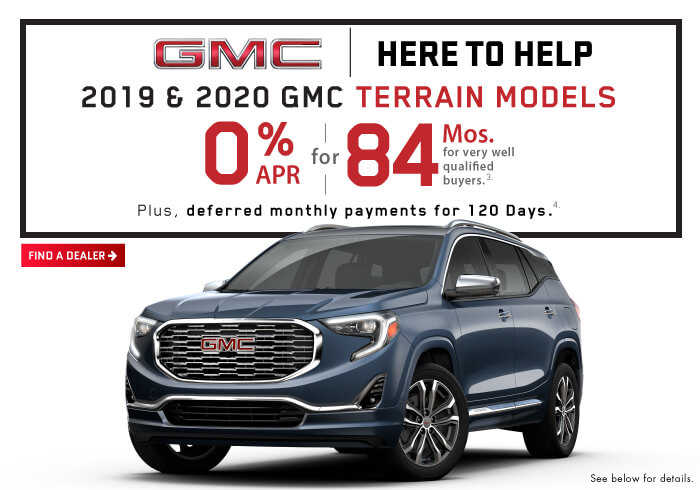 2020 and 2019 GMC Terrain Models.