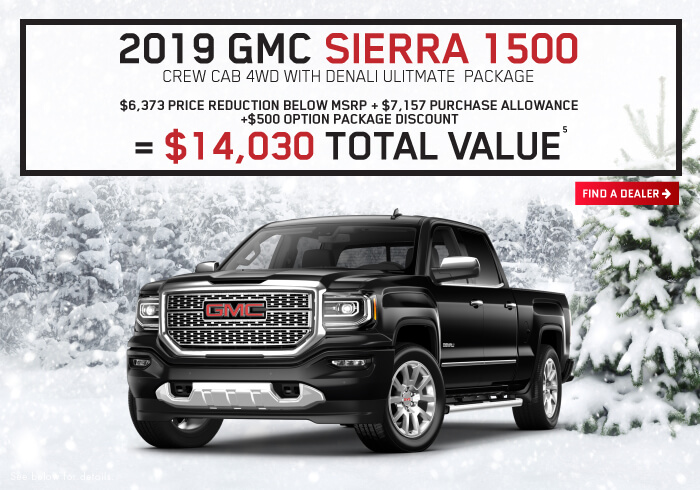 Sierra 1500 Crew Cab 4WD With Denali Ultimate Package