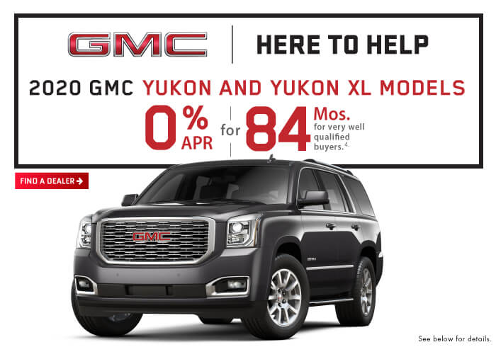 GMC Incentive 0% for 84 Months on Yukon and Yukon XL