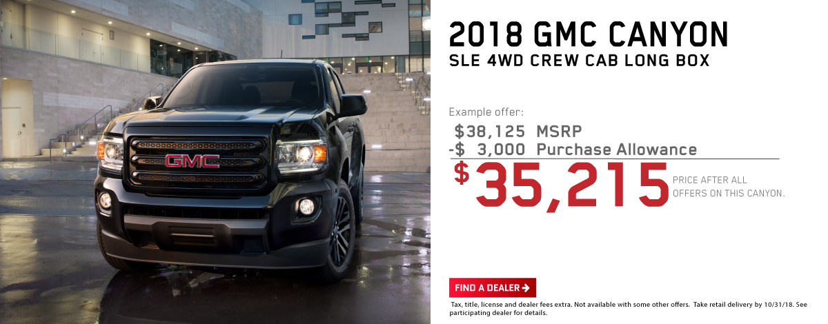 2018 GMC Canyon - SLE 4WD Crew Cab Long Box