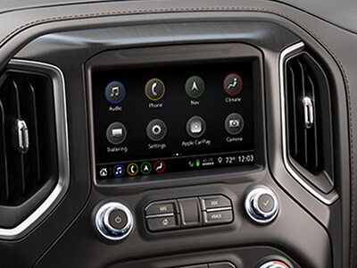 Sierra AT4 infotainment and navigation system