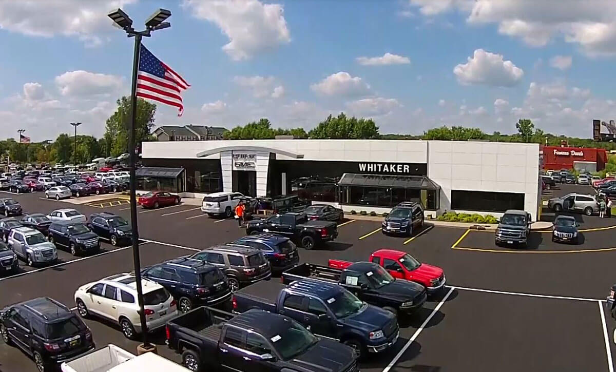 Whitaker Buick GMC dealer lot