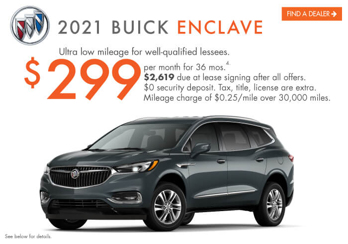 2021 Enclave Lease Offer