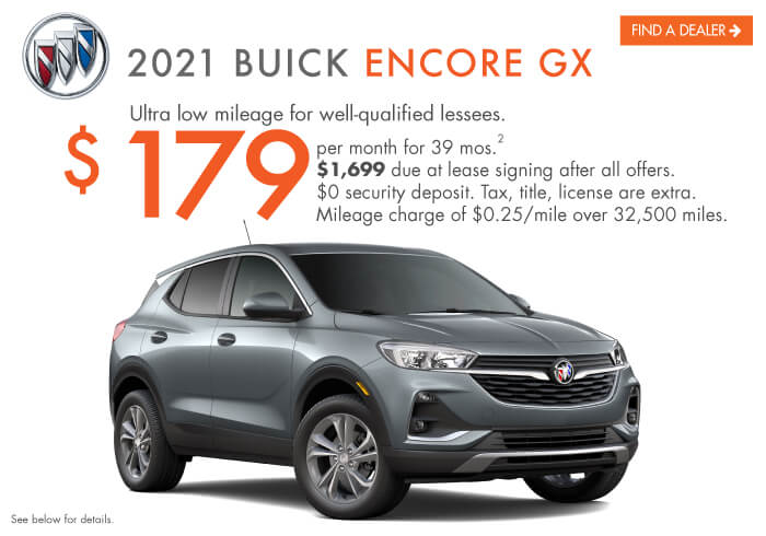 2021 Encore GX Lease Offer