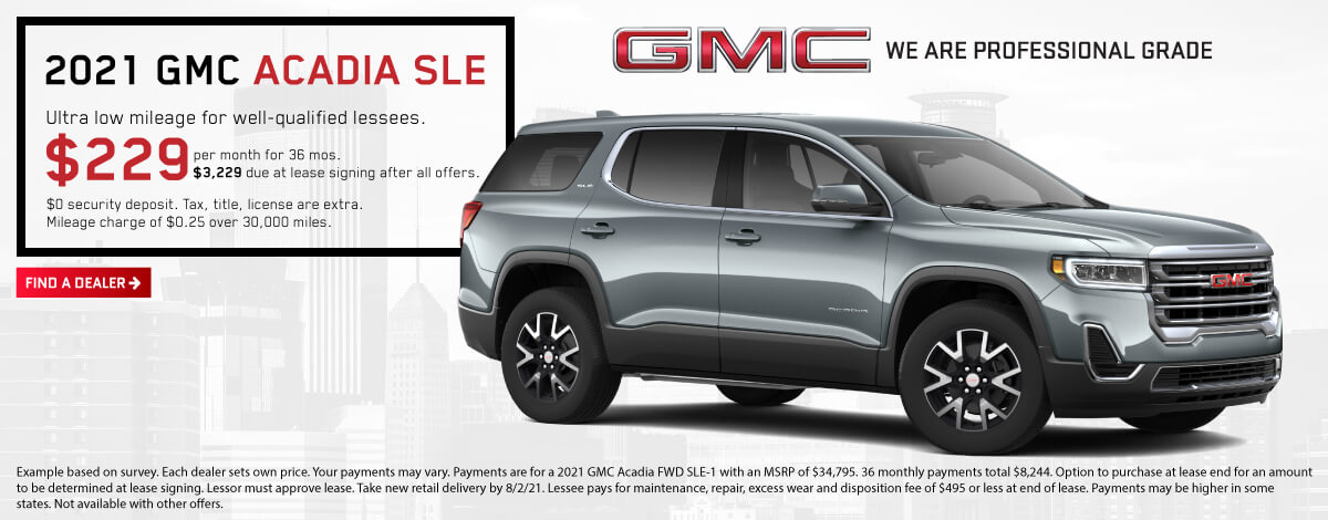 2021 GMC Acadia Lease Offer